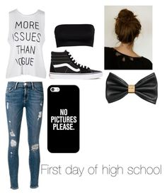 """""""Untitled #98"""" by tristalayne on Polyvore featuring Frame Denim, Vans, Casetify and H&M"""
