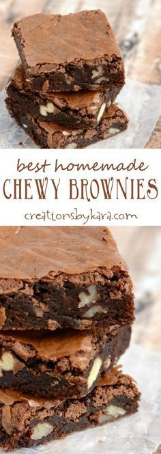Chewy Crackle Top Brownies - this brownie recipe is easy to make, and they are unbeatable! If you love fudgy, chewy brownies with crackly tops, this is the brownie recipe for you!