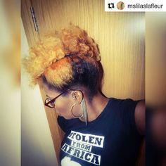 #stolenfromafrica #UK #Repost @mslilaslafleur   Loving my curls & color #afrohair #IGrowThis #naturalhair #letmebe #alldaysfa