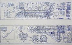 Plan de la navette spatiale par BlueprintPlace sur Etsy