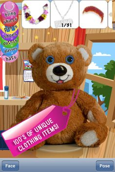 My Stuffy Bear ($0.99) With My Stuffy Bear you can easily create and customize your very own cute and cuddly Teddy Bear.