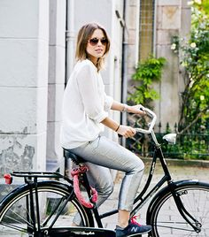 @Who What Wear - Sabrina Meijer Pair athletic sneakers with a cool daytime ensemble. Wearing: Linda Farrow sunglasses; Zara shirt; H&M Trend pants; New Balance shoes; Michael Kors watch. Site: afterDRK