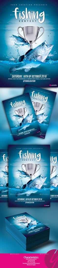 Fishing tournament flyer event flyers fonts and font logo saigontimesfo