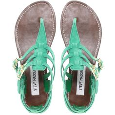 Steve Madden Flat Saahara Sandals, Love this color