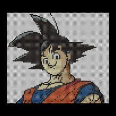 Goku perler beads