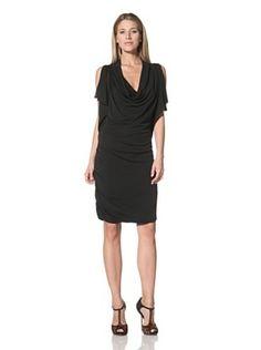 Halston Heritage Women's Slit Sleeve Dress (Black)  I saw one similar to this one on tv! love it