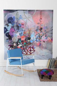 Betsy Walton Northern Lights Mural #urbanoutfitters
