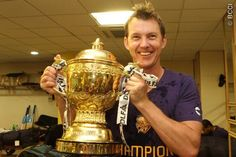 After seeing this photograph, how can I ever begrudge Kolkata Knightriders the trophy! After all I am the same girl who was secretly (and guiltyly) happy after Australia won the World Cup in 2003 just to see Binga with the trophy...  I guess I have to accept, I was rooting for KKR.