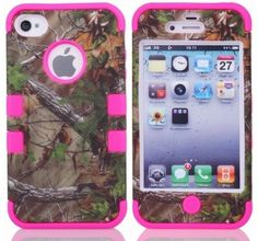 Cell N Stuff® 3 in 1 Green Camo With Pink Gel Realtree Hunting Camouflage High Impact Shock Defender Plastic Outside With Silicone Inside 3 in1 2D Hard Case Phone Cover, http://www.amazon.com/dp/B00FRMVSDY/ref=cm_sw_r_pi_awd_K1LEsb15ZPKDH