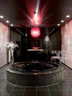 Black Interior.  Luxe Bath.