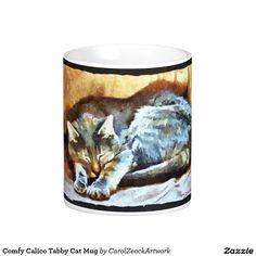 Comfy Calico Tabby Cat Mug