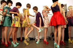 Brazilian fashion week. Love the colors, styles, and i want all of their shoes.