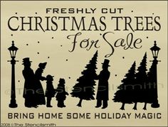 375 - Christmas Trees For Sale-christmas stencil trees for sale bring home some holiday magic farm bringing