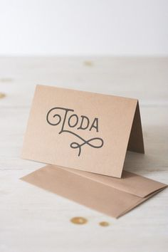 'Toda' Thank You Greeting Card | Chai & Home: The Shop
