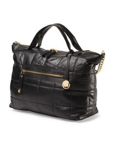Leather Quilted Satchel