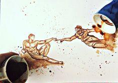 la Creazione di Adamo per me nasce da una tazzina di caffè..anzi due!