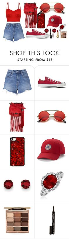 """""""Red❤️"""" by alexis-dira ❤ liked on Polyvore featuring T By Alexander Wang, Converse, Gucci, ZeroUV, Kevin Jewelers, Bling Jewelry, Stila, Smith & Cult and Maybelline"""