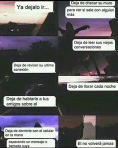 Imagen de love, desamor, and frases Sad Quotes, Love Quotes, Ex Amor, Broken Soul, Sad Life, Spanish Quotes, Volvo, It Hurts, Nostalgia