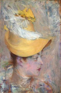 Head of a Lady with Yellow Sleeve - Giovanni Boldini, 1890.