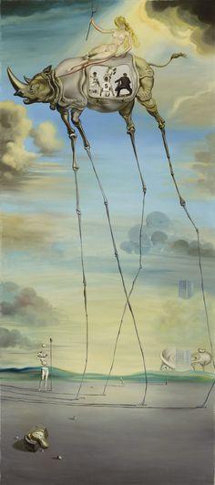 Salvador Dalí (1904-1989) Chevauchée céleste