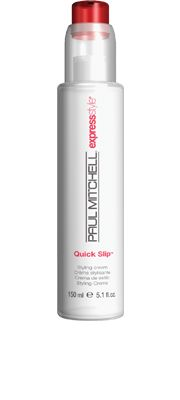 Quick Slip™  Styling Cream    Provides flexible hold and definition. Shields vulnerable strands from the sun. Speeds up drying time while it conditions and protects.  Softening conditioners and UV protection leave   hair looking and feeling healthy......have this & love it!!!!