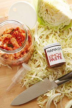 Mama Os Kimchi Making Kit - Urban Outfitters Food Storage Organization, Kitchen Storage, Fermented Cabbage, Kit S, Innovation, Food Tags, Kimchi, Recipe Using, Dishes
