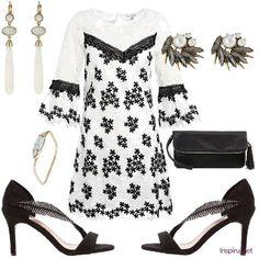 Eleganckie biało-czarne sukienki Summer Outfits, Black And White, Polyvore, Image, Ideas, Fashion, Black White, Moda, Black N White
