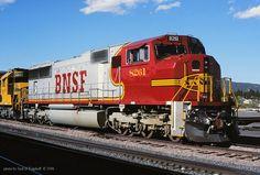 https://flic.kr/p/uBSH4C   BNSF 8261, Raton, NM. 5-11-1996   BNSF SD75M, #8261, at Raton, NM. 5/11/1996