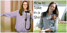 Pleats and Ruffles: How To: Take In a Shirt