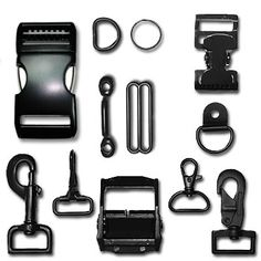 Metal Hardware | Buckles, Straps & Rings | Strapworks.com webbing, clips, etc. for making leashes, straps, coats, etc.