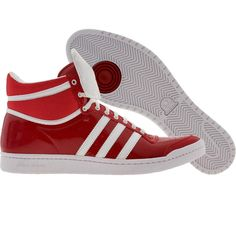 Adidas Womens Top Ten High Sleek Bow shoes in university red and white