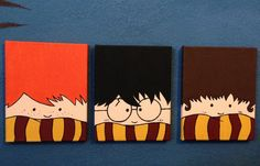 Painted Canvas Harry Potter Ron Weasley & by LingLingCrafts, $25.00