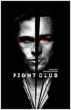 Fight Club ~ Alternative Movie Poster by Brandon Michael Elrod Fight Club 1999, Fight Club Rules, Movie Posters For Sale, Movie Poster Art, Cinema Tv, Cinema Posters, Retro Posters, Marla Singer, Club Poster
