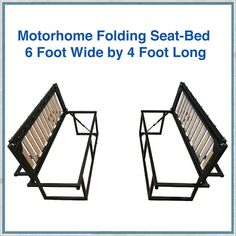 Motorhome folding seat-bed These seats pull out into a full x bed. They have been designed to fit at the rear of a Fiat Ducato, Peugeot Boxer, or Citroen Relay van. These vans have a wide body allowing the width, but could fit into many other vans Ducato Camper, Fiat Ducato, Van Conversion Interior, Camper Van Conversion Diy, Peugeot, Mini Camper, Truck Camper, Motor Casa, Kangoo Camper