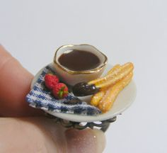 THIS IS A RING. Churros and Chocolate Miniature Food Ring  Miniature by NeatEats, $21.97