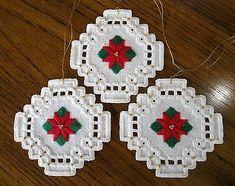Scandinavian Hardanger Christmas Ornament Embroidery 28 Count Smaller Beads | eBay