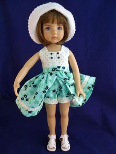 """Romper & Skirt Outfit for 13"""" Effner Little Darling Doll by Apple. SOLD BIN for $59.95 on 7/3/15."""