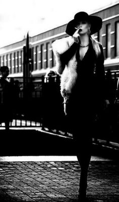 Jerry Hall by Helmut Newton.