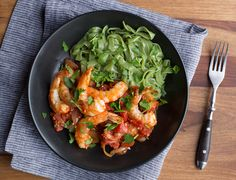 Prep time: 20 minutes | Total time: 20 minutes Serves 2 Phase 3 Ingredients: 2 packages spinach shirataki fettuccine 12 ounces large shrimp, peeled, deveined 3/4 teaspoon sea salt, plus additional as needed 1/2 teaspoon dried crushed red pepper flakes 4 tablespoons olive oil 1 medium onion, sliced 14.5-ounce can diced tomatoes 3 garlic cloves, […]