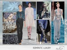 Renda, guipir e bordados continuam fortes com ar bem sexy e feminino.