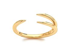 Missoma - 18ct Gold vermeil triple horn ring