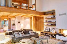 Salon avec Cheminée Spa, Location Saisonnière, Decoration, Loft, Furniture, Home Decor, Living Room With Fireplace, Home Decoration, Decor