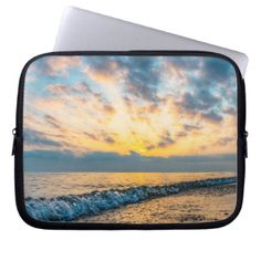 Colorful Summertime Sunset Computer Sleeve - photography gifts diy custom unique special
