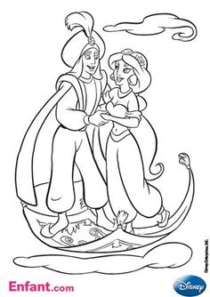 This is one of the most popular love stories all over the word Disney Aladdin Coloring Pages and character of Aladdin and Jasmine. Best of Aladdin American animated fantasy, comedy TV series after movie released by the Walt Disney.
