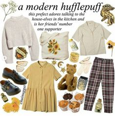 hufflepuff for life Mode Harry Potter, Harry Potter Outfits, Harry Potter Style, Aesthetic Fashion, Aesthetic Clothes, Harry Potter Kleidung, Mode Grunge, Look Girl, Ravenclaw