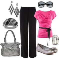 """""""business pink and silver"""" by hattie-girl on Polyvore"""