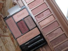 Wet n Wild fall 2014 limited edition Coloricon Eyeshadow Palette in Smoke and Melrose vs. Urban Decay's Naked 3 palette