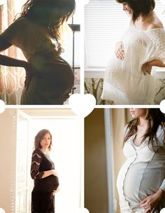 maternity shoot inspiration at home window backlit