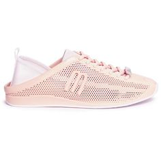 Melissa 'Love System Now' neoprene perforated PVC sneakers (440 RON) ❤ liked on Polyvore featuring shoes, sneakers, pink, melissa shoes, perforated shoes, melissa footwear, cushioned shoes and pink sneakers