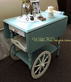 Vintage Tea Cart With Drop Leaves Furniture Update, Furniture Projects, Furniture Makeover, Diy Furniture, Repurposed Furniture, Painted Furniture, Antique Tea Cart, Home Bar Areas, Tea Trolley